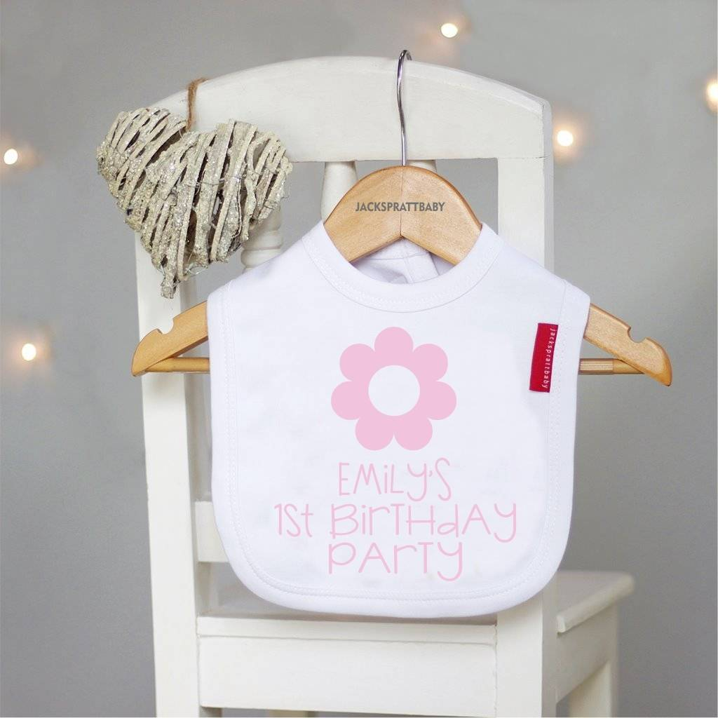 Babys First Birthday Gift Personalised Bib