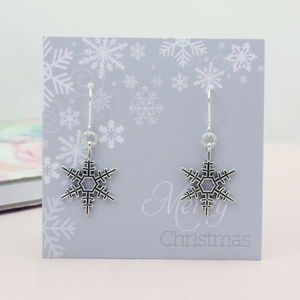 Vintage Style Snowflake Earrings - jewellery sale