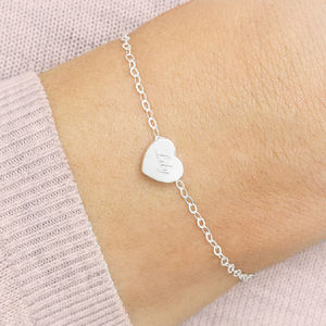 Ella Sterling Silver Heart Bracelet - gifts for her