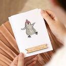 Personalised Baby Penguin First Christmas Card