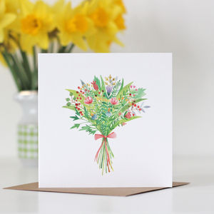 Flower Bouquet Mother's Day Card