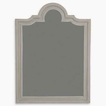Wilton Grey Portrait Mantle Mirror