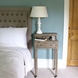 French Oak Bedside Table - living room