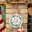 'Merry Christmas' Misteltoe Hanging Door Wreath