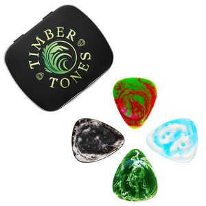 Resin Tones Tin Of Four Guitar Picks / Plectrums