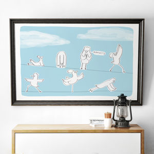 'Birds Doing Yoga' Print