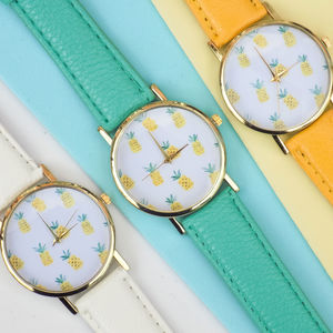 Multiple Pineapple Face Watch - women's jewellery