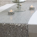 Sequin Table Runner Silver / Rose Gold