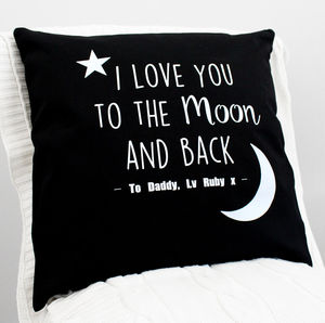 'I Love You To The Moon And Back' Glitter Cushion - baby's room