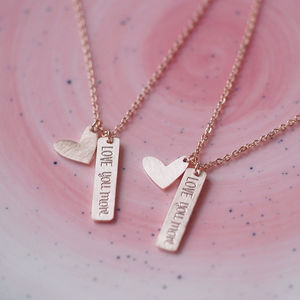 'Love You More' Necklace - children's jewellery
