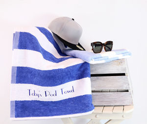 Personalised Pool Towel - bed, bath & table linen