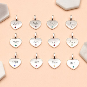 Personalised Sterling Silver Birthstone Charms - children's jewellery