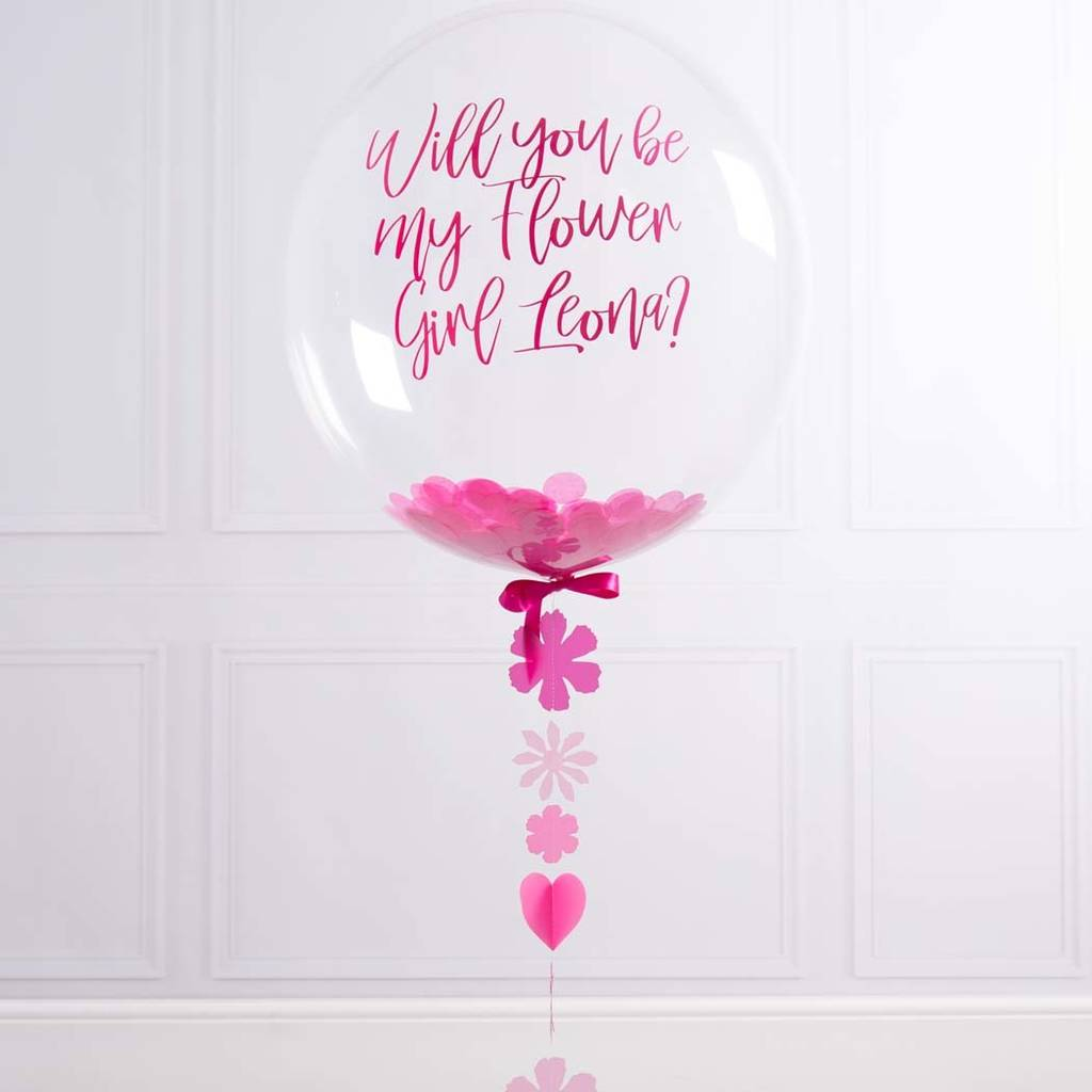 Will You Be My Flower Girl Balloon By Bubblegum Balloons