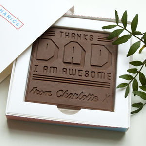 Personalised 'I'm Awesome' Father's Day Chocolate Card - novelty chocolates