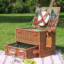 Hatfield Four Person Picnic Hamper With Drawer