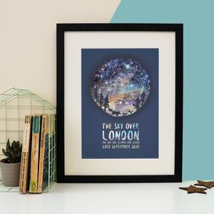Family Of Foxes Personalised Star Chart Print - posters & prints