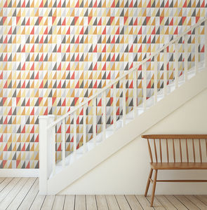 Triangle Geometric Wallpaper - home decorating