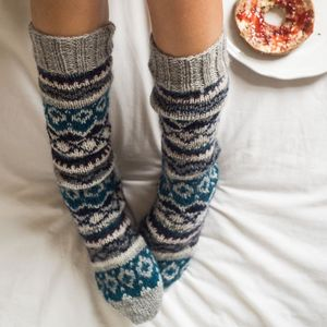 Long Hand Knitted Socks - socks