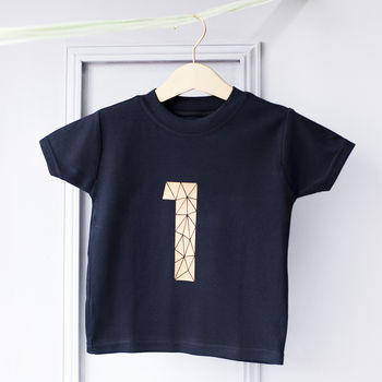Personalised Kids Age Celebration Number T Shirt