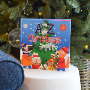 A To Z Of Christmas Hardback Book And Decorations