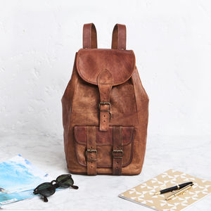 Leather Backpack - womens
