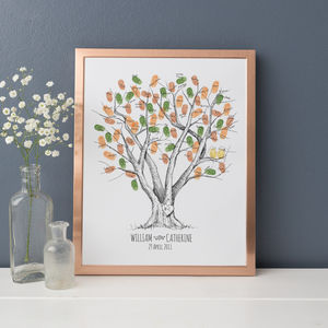 Beech Wedding Fingerprint Tree Guest Book - dates & special occasions