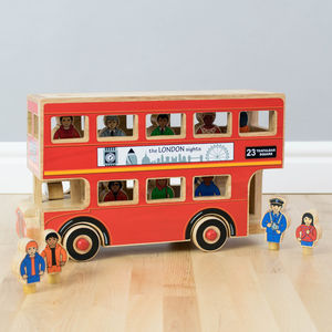 Fair Trade London Bus - push & pull along toys