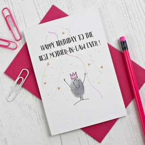 Mother In Law Birthday Card