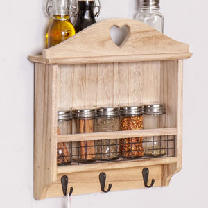 Wooden Wall Mounted Kitchen Spice Rack