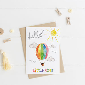 Hello New Baby Twins Card - new baby cards