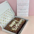 Personalised Birthday Letterbox Vegan Brownie Slab