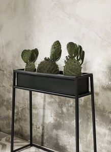 Nordal Black Iron Planter On Stand - whatsnew
