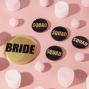 Gold Squad Hen Party Badges