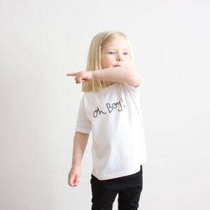 Unisex 'Oh Boy' T Shirt