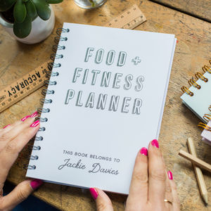Personalised Gold Foil Food And Fitness Planner