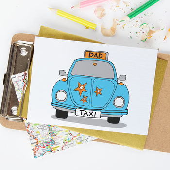 Dad Taxi Funny Father's Day Or Birthday Card