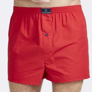 British Boxer Shorts In Pillar Box Red - men's fashion