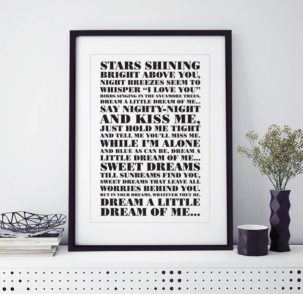 personalised \'first dance\' song print by over & over ...