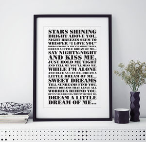 First Dance Song Print - posters & prints