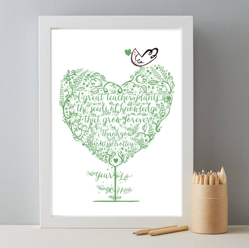 Personalised Teacher Thankyou Class Gift Print