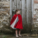 Red Velvet Hooded Cape