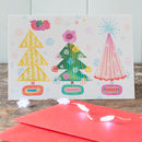 Christmas tree card design