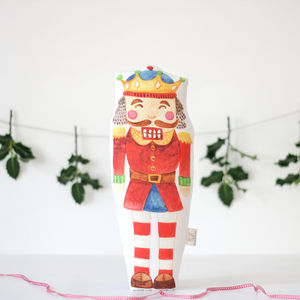 Nutcracker Cushion - baby's first christmas