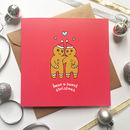 Romantic Christmas Card Gingerbread People