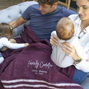 Family Cuddles Personalised Recycled Blanket