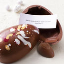 Personalised Easter Egg With Surprise Message Enclosed