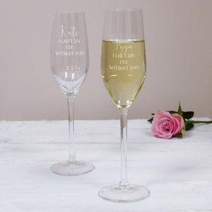 I Can't Say I Do Wedding Champagne Flute