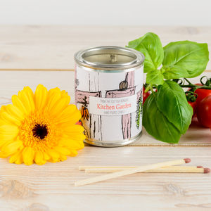 Kitchen Garden Basil And Ginger Candle Tin