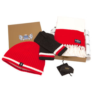 Luxury Cashmere Football Gift Sets In Red And White - new in fashion
