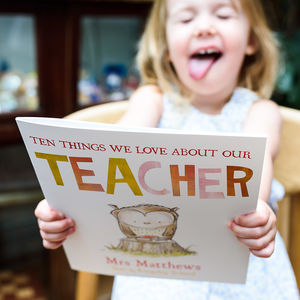 Reasons We Love Our Teacher Book - new in baby & child